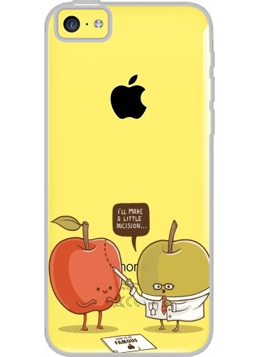 coque iphone 5c rigide cristal transparente little incision white