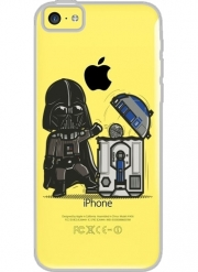 Coque Iphone 5C Transparente Robotic Trashcan