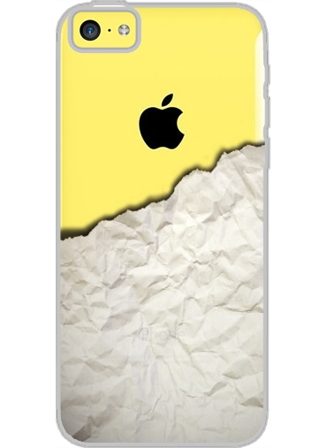 coque iphone 5c transparente wooden crumbled paper white. Black Bedroom Furniture Sets. Home Design Ideas
