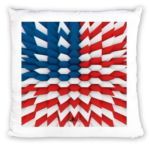 Coussin 3D Poly USA flag