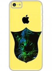 Iphone 5C Hard Case Crystal Transparent Abstract neon Leopard
