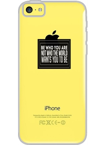 Iphone 5C Hard Case Crystal Transparent Be who you are