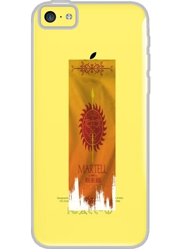 Iphone 5C Hard Case Crystal Transparent Flag House Martell
