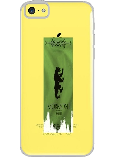 Iphone 5C Hard Case Crystal Transparent Flag House Mormont