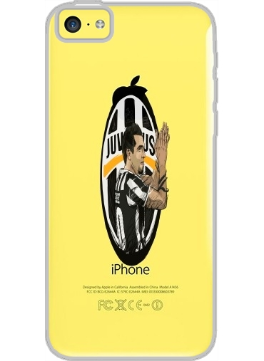 Iphone 5C Hard Case Crystal Transparent Football Stars: Carlos Tevez - Juventus
