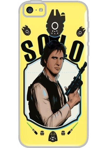 Iphone 5C Hard Case Crystal Transparent Han Solo from Star Wars