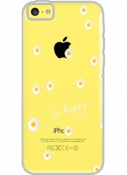 Iphone 5C Hard Case Crystal Transparent Happy Daisy