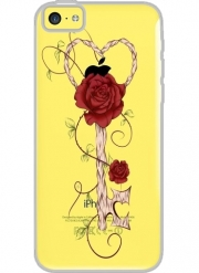 Iphone 5C Hard Case Crystal Transparent Key Of Love