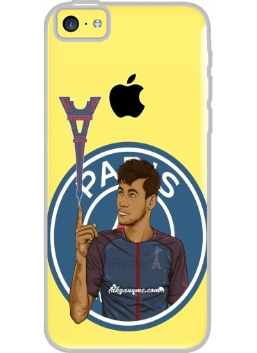 Iphone 5C Hard Case Crystal Transparent Le nouveau titi Parisien Ney Jr Paris