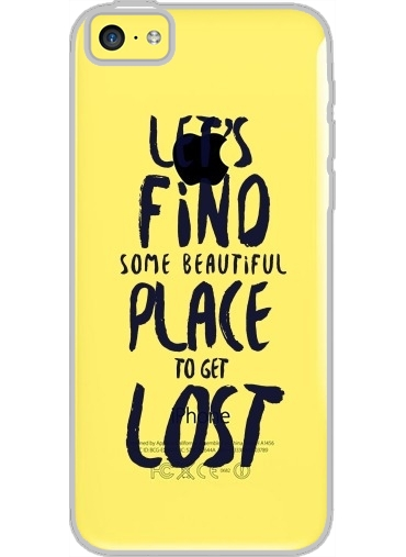 Iphone 5C Hard Case Crystal Transparent Let's find some beautiful place