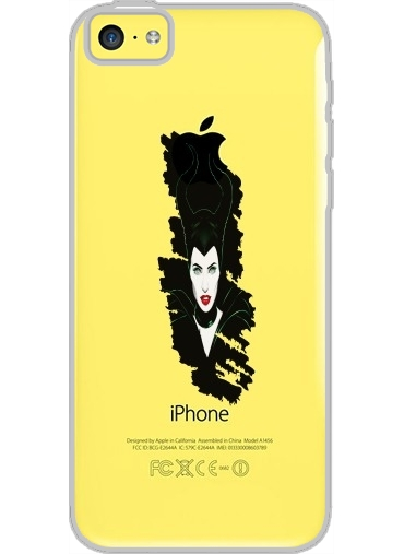 Iphone 5C Hard Case Crystal Transparent Maleficent from Sleeping Beauty