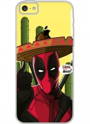 Iphone 5C Hard Case Crystal Transparent Mexican Deadpool