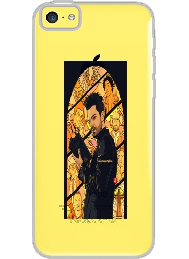 Iphone 5C Hard Case Crystal Transparent Preacher