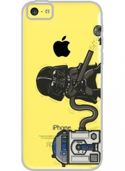 Iphone 5C Hard Case Crystal Transparent Robotic Hoover