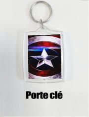 Key Ring American Shield Blue