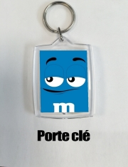 Porte clé photo M&m's Bleu