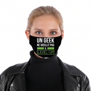 Masque alternatif Un Geek ne vieillit pas il level up