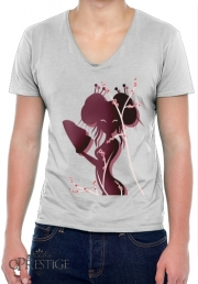 Mens T-Shirt V-Neck Akiko asian woman