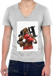 Mens T-Shirt V-Neck Boxing Legends: Money