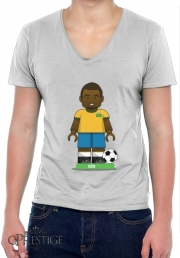 Mens T-Shirt V-Neck Bricks Collection: Brasil Edson
