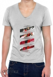 Mens T-Shirt V-Neck Football Stars: Luis Suarez