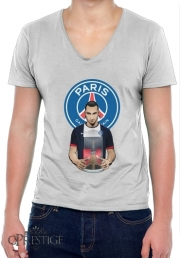 Mens T-Shirt V-Neck Football Stars: Zlataneur Paris