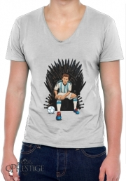 Mens T-Shirt V-Neck Game of Thrones: King Lionel Messi - House Catalunya