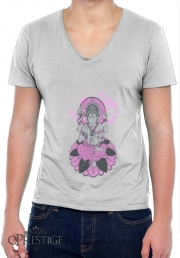 Mens T-Shirt V-Neck Ganesha