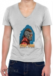 Mens T-Shirt V-Neck Guardians of the Galaxy: Star-Lord