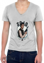 Mens T-Shirt V-Neck Han Solo from Star Wars