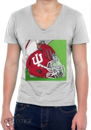 Mens T-Shirt V-Neck Indiana College Football