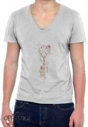 Mens T-Shirt V-Neck Key Lucky