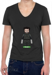Mens T-Shirt V-Neck Lego: X-Men feat Wolverine