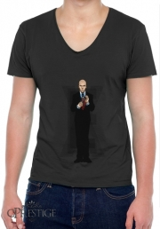 Mens T-Shirt V-Neck Lex - Dawn of Justice