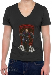 Mens T-Shirt V-Neck Messiah!