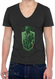 Mens T-Shirt V-Neck MGS Phantom Pain Army Men Big Boss Diamond Dogs