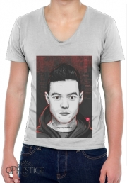 Mens T-Shirt V-Neck Mr.Robot