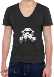 Mens T-Shirt V-Neck Pirate Trooper