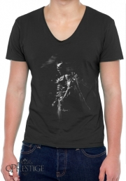 Mens T-Shirt V-Neck Splash Of Darkness