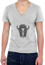 Mens T-Shirt V-Neck The Spirit Of the Buffalo