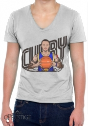 Mens T-Shirt V-Neck The Warrior of the Golden Bridge - Curry30