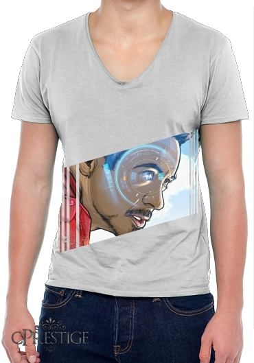 Mens T-Shirt V-Neck Tony