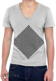 Mens T-Shirt V-Neck Waves 1