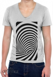 Mens T-Shirt V-Neck Waves 3