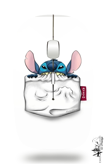 souris sans fil avec r cepteur usb importable stitch white sacs accessoires. Black Bedroom Furniture Sets. Home Design Ideas