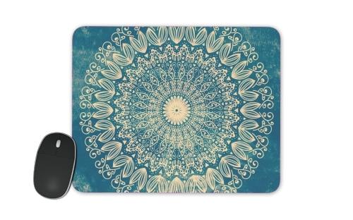 Blue Organic boho mandala for Mousepad
