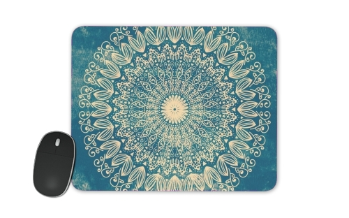 Blue Organic boho mandala für Mousepad