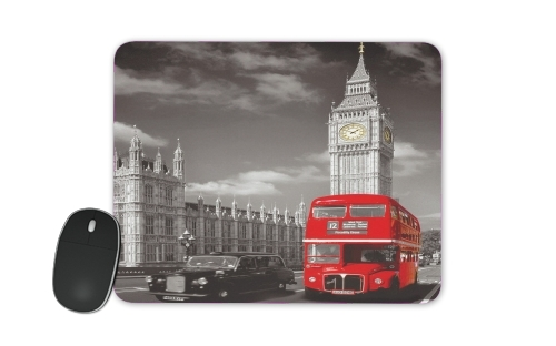 tapis de souris bus rouge de londres white sacs accessoires. Black Bedroom Furniture Sets. Home Design Ideas