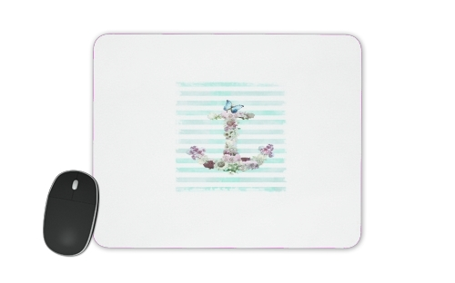 Mousepad Floral Anchor in mint