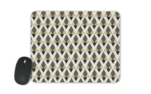 Tapis de souris Glitter Triangles in Gold Black And Nude